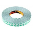 3M 9087 White Double Sided Plastic Tape, 25mm x 5 Mtr